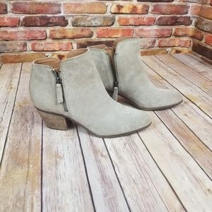 Frye & co gray holly zip booties size 9
